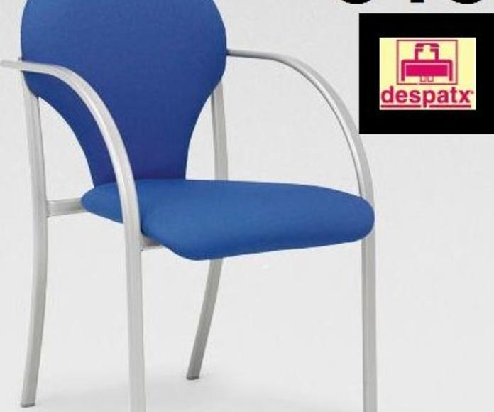 silla con brazos confidente mod. 1155 con estructura metálica