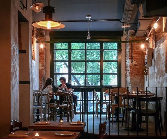 Comercios. Restaurante La Mucca: Proyectos Integrales de comtres