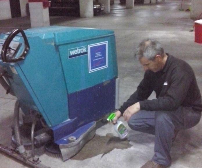 Limpieza y pulidos de suelos en garajes