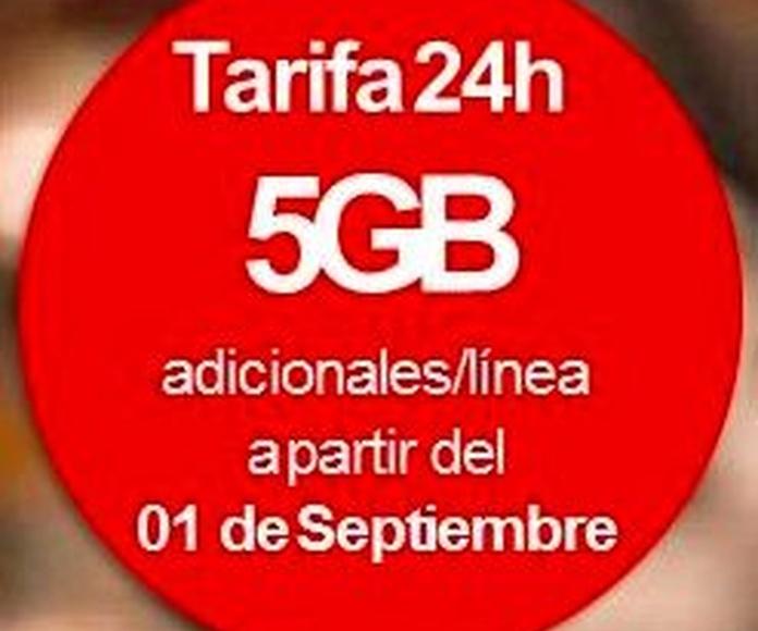 Vodafone te da 5 Gbs por linea