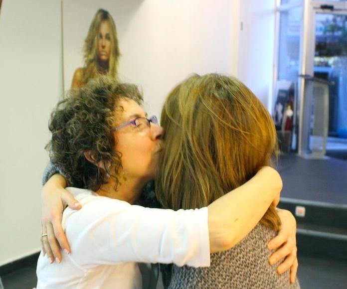 Silvia con Paca Montoya, una de las mejores estilistas del Grupo Llongueras
