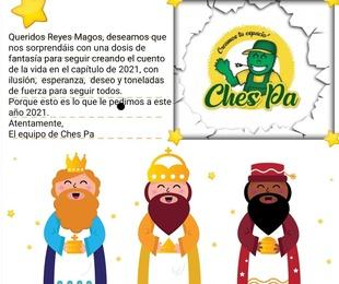 Carta para Sus Majestades Los Reyes Magos