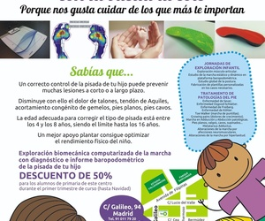 Promoción Exploración biomecánica infantil