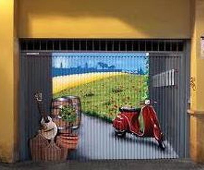 DIBUJOS DE GRAFITIS EN PERSIANAS Y PUERTAS DE GARAJE