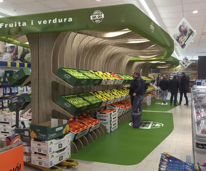 Diseño de módulo de expositor para fruta fresca en cadena de supermercado