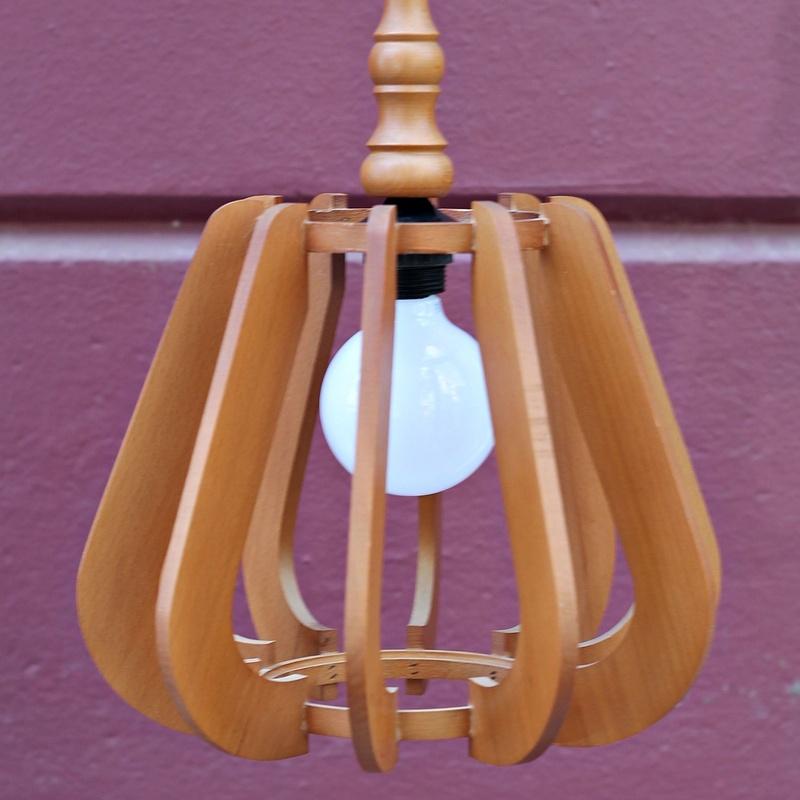Lámpara madera años 60: Artículos  de Ruzafa Vintage