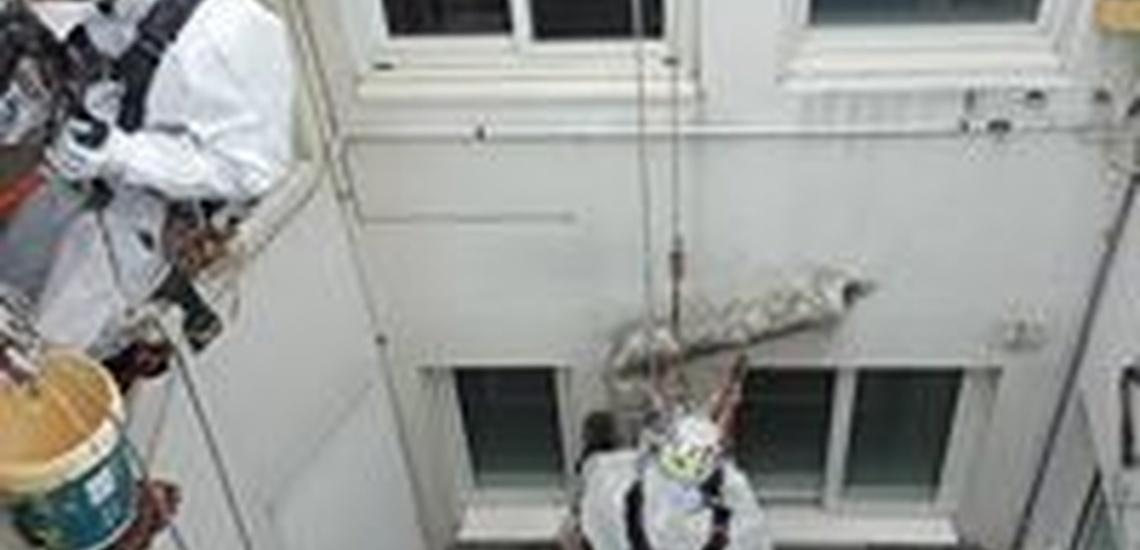 Trabajos en altura e impermeabilización de fachadas en Ourense