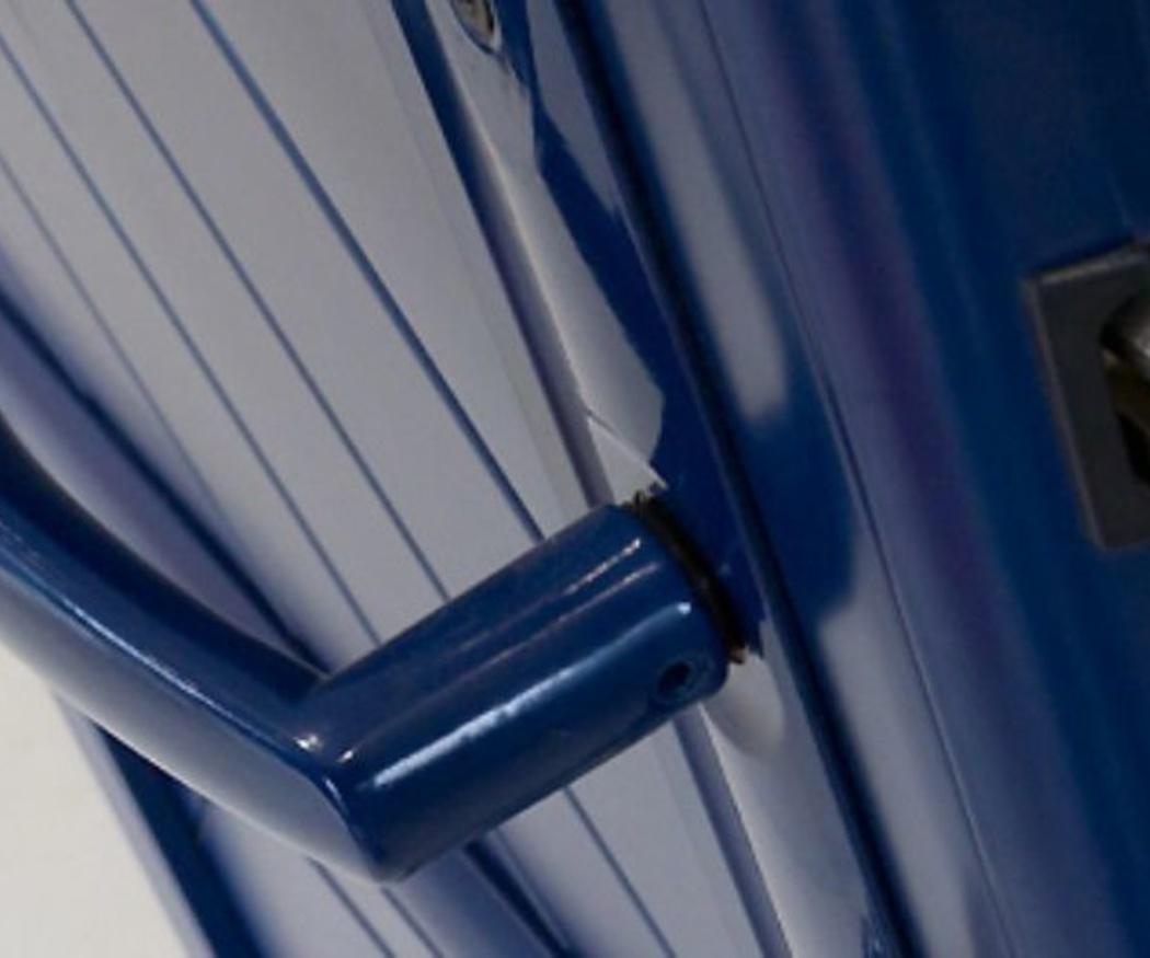 Las puertas interiores también de aluminio