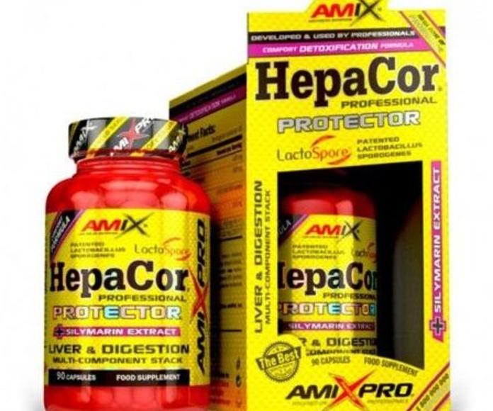 Amix® HepaCor® Protector es un complemento alimenticio desarrollado para el bienestar y la salud del hígado con ingredientes de la más alta calidad como Acetil L-Carnitina, Cardo Mariano, bacterias del ácido láctico (BAL) LactoSpore™ (bacillus coagulans)