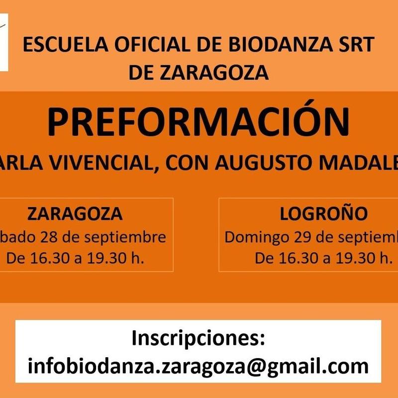 Charla vivencial de Preformación en Biodanza con Augusto Madalena: CURSOS de Augusto Madalena