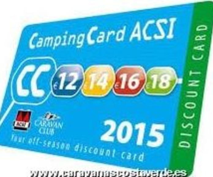 Tarjeta Camping ACSI 2015