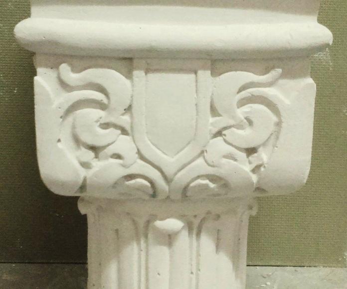 capitel para columna  arabe diametro 12,cm .a medida