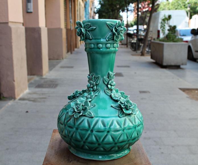 Jarrón de cerámica de Manises años 60: Artículos  de Ruzafa Vintage