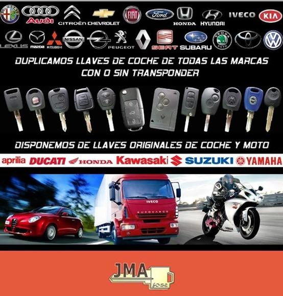 Llaves de coche: Qué hacemos de JMA Cerrajeros