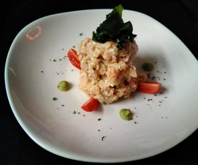 Tataki de atún rojo: Carta de Restaurante Nautilo