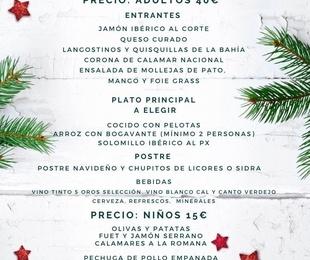 Menú de Navidad 2019