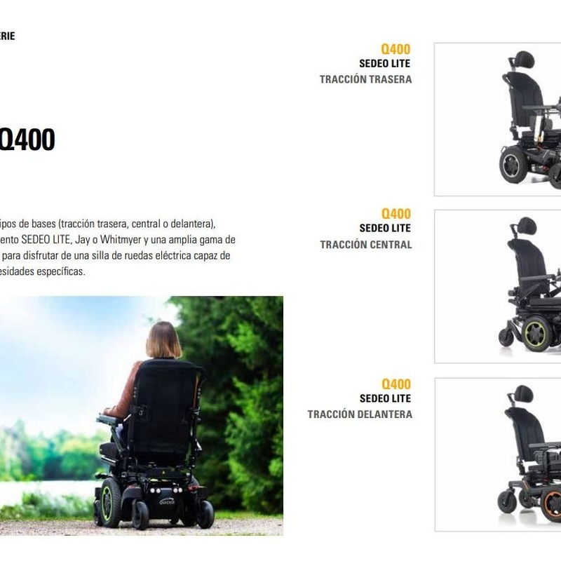 Silla de ruedas eléctrica Q400: Catálogo de Ortopedia Bentejui