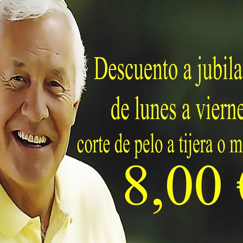 Descuento a jubilados en corte de pelo en Torrejón de Ardoz