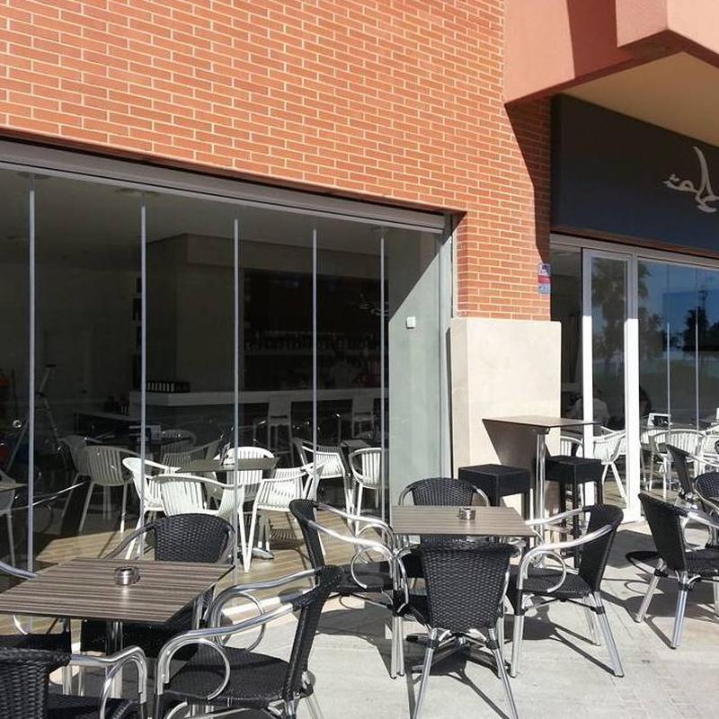 Cortina de cristal para restaurantes: Trabajos de NeoGlass