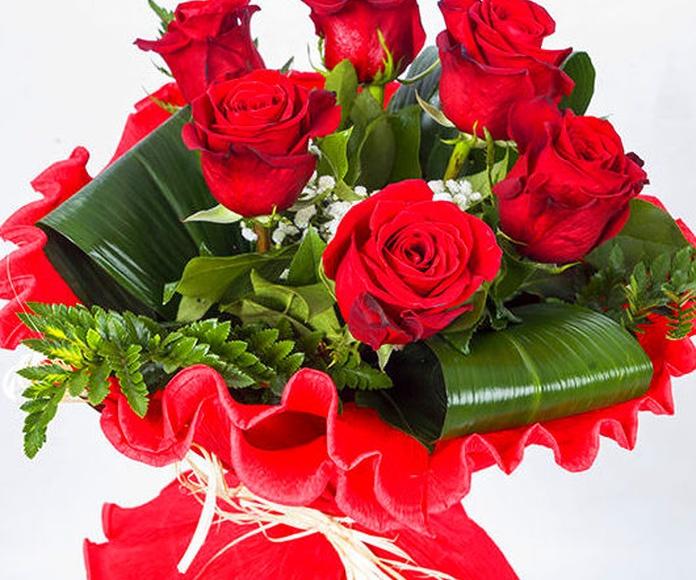 Ramo seis rosas: Catálogo de Regalos de Floresdalia.com