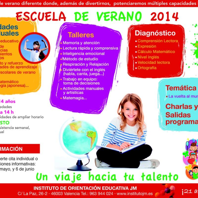 Escuela de Verano 2014: Nuestros Cursos de Instituto de Orientación Educativa JM