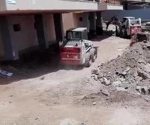 Excavación de piscina en Las Américas (Arona)