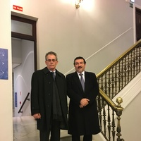 D. Cristobal Miró Fernandez con D. Manuel Martos Garcia de Veas