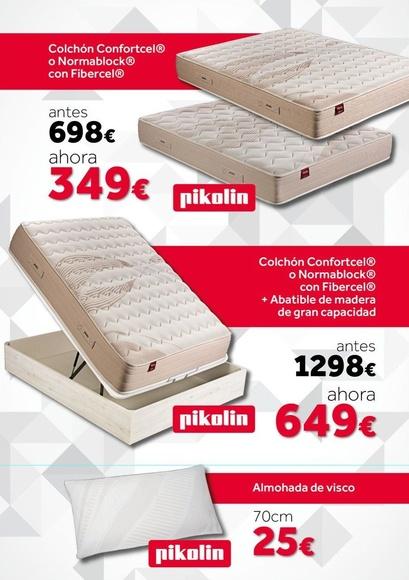 EV Colchonería: conjunto de colchón y canapé de madera Pikolin de 135 por sólo 649 €