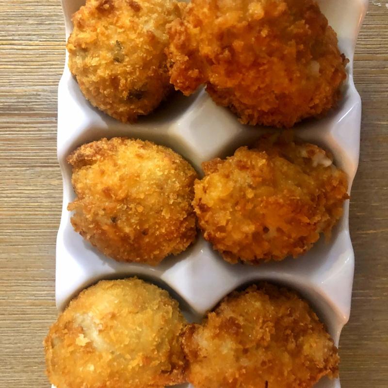 Croquetas de jamón ibérico y de boletus: CARTA y Menús de Alquimia