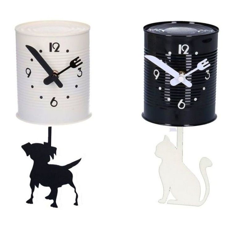Reloj de pared, perro o gato 10 x 23