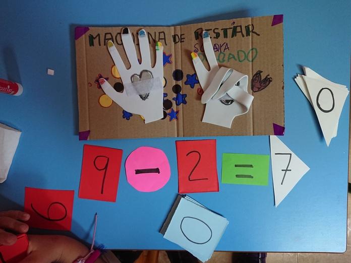 maquina de sumar escuela infantil en Leganés