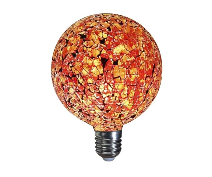 LAMPARA DECORATIVA  LED GLOBO TIFFANY E27 4W 360º 230V NARANJA