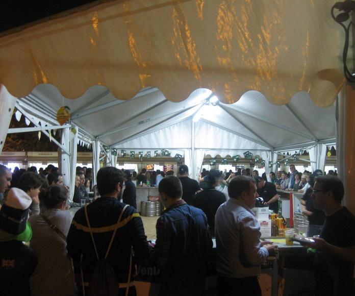 Participantes en la carpa centra del Fira Tapa 2015