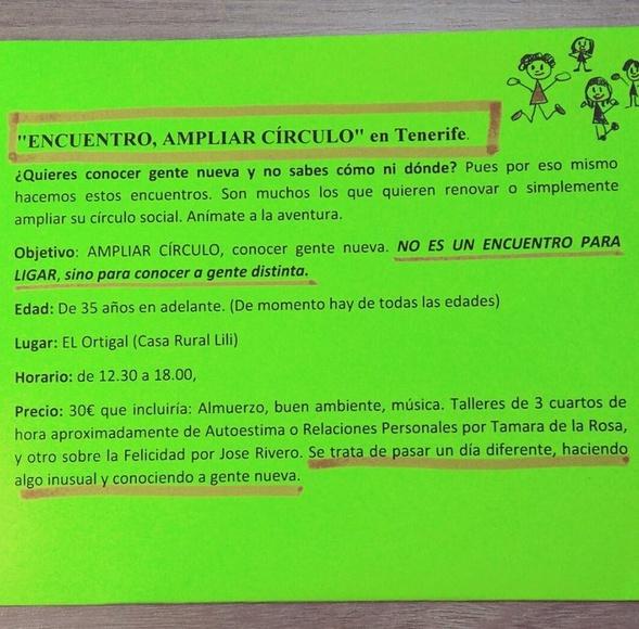ENCUENTRO, AMPLIAR CÍRCULO EN TENERIFE