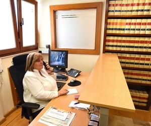 Recepcionista del bufete de abogados