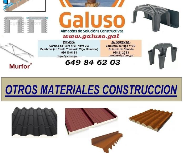 TARIFA 2019 - OTROS MATERIALES CONSTRUCCION: Catálogo de Galuso