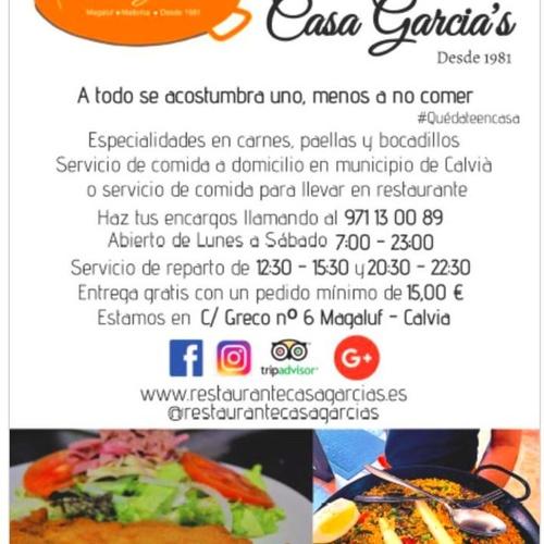 Cocina tradicional en Magaluf | Restaurante Casa García's