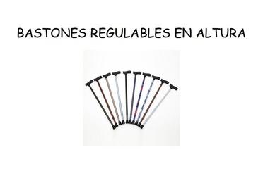 Bastones regulables en altura