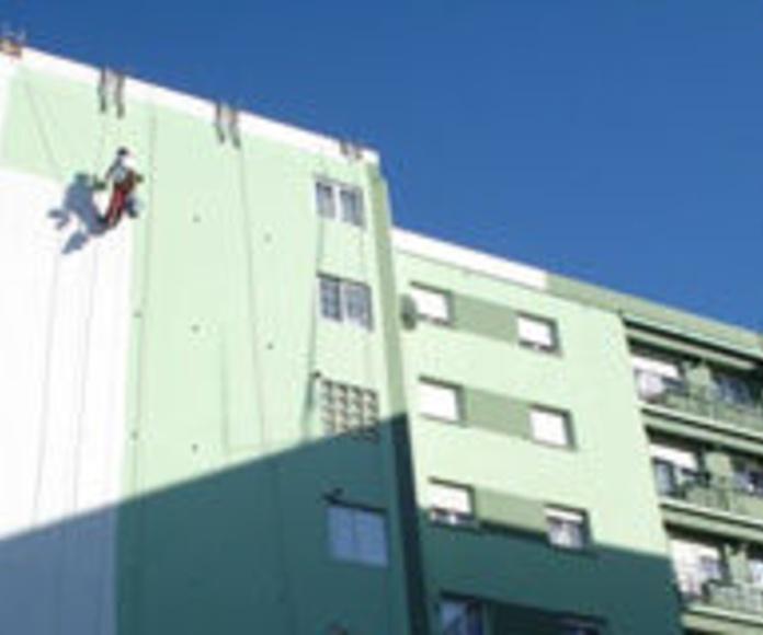 Rehabilitación y Pintura: Trabajos de Acebo Trabajos Verticales