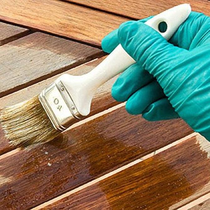 Ceras para el tratamiento de madera