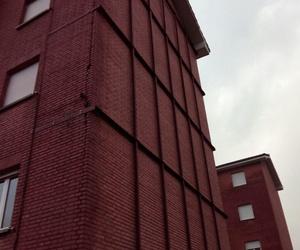 Apuntalamiento de fachada con estructura metálica