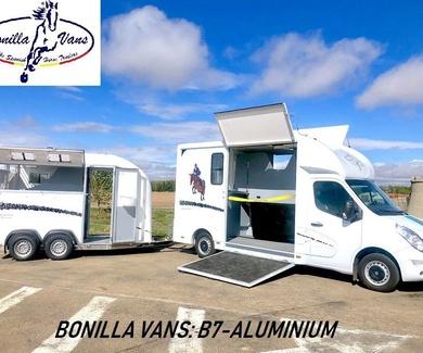NUEVO!!! B7-ALUMINIUM.  El van para nuestra Bonilla Master Horse.