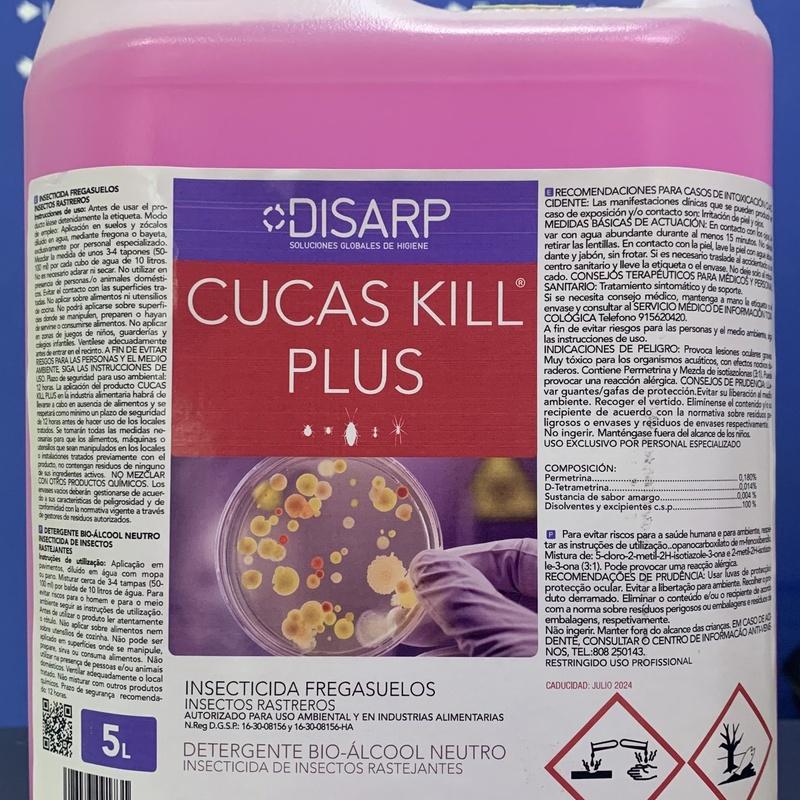 Fregasuelo Cucas kill plus 5L: SERVICIOS  Y PRODUCTOS de Neteges Louzado, S.L.