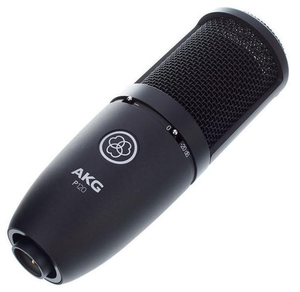 Microfono de condensador universal membrana grande Akg P120 con pinza
