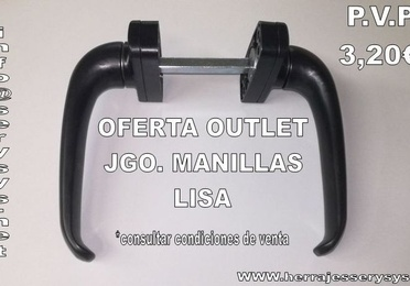 Oferta Outlet Jgo. Manillas Lisa