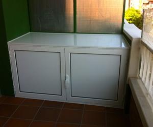 Armario Arcón para exterior de aluminio panel lacado blanco.
