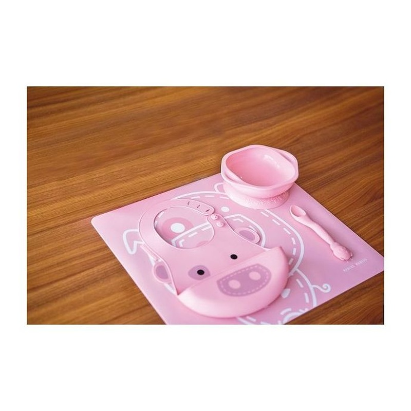 Set Alimentacion Silicona Marcus & Marcus - Pig: Productos de Mister Baby