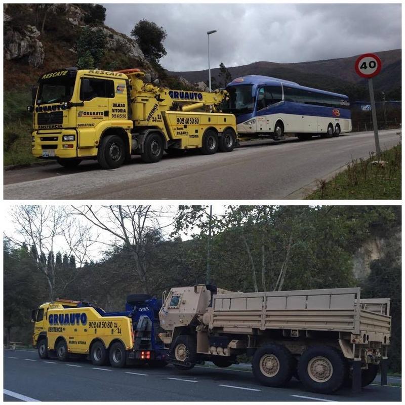 Gruas para autobuses y camiones de cualquier tipo y dimensiones.