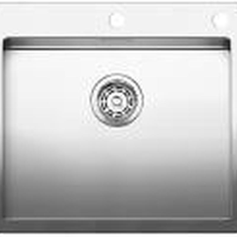 Fregaderos Blanco de acero inoxidable modelo Blanco Claron 500-IF/A