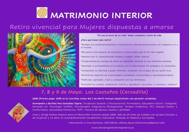 Matrimonio Interior 20, 21 y 22 Mayo 2022